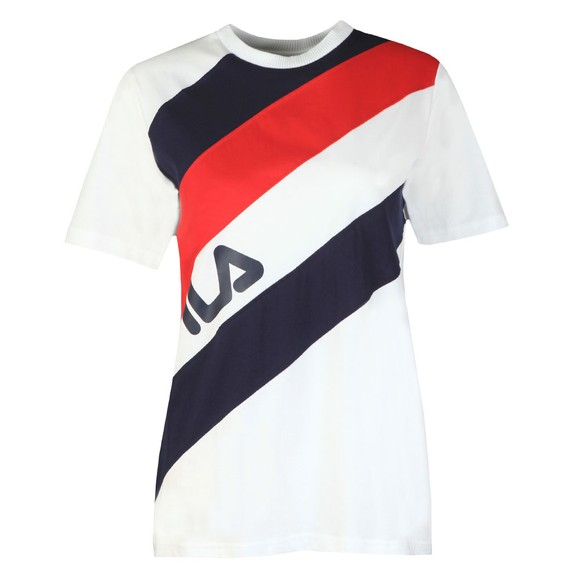 Fila Womens Blue Striped T-Shirt main image