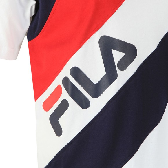 Fila Womens Blue Striped T-Shirt main image