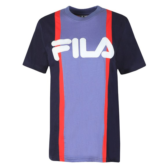 Fila Womens Blue Colour Block T-Shirt