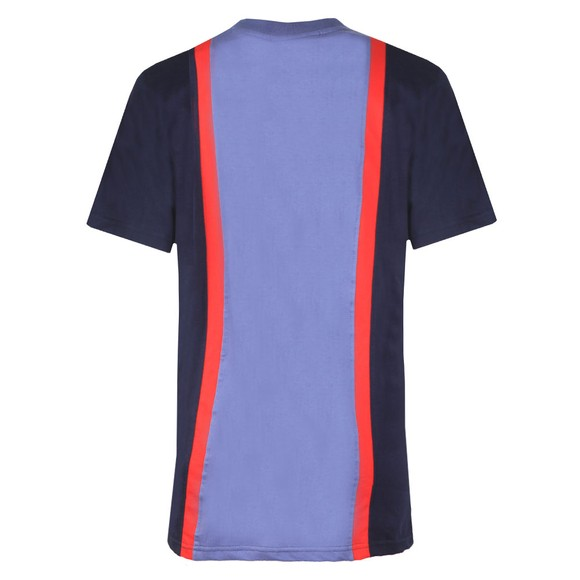 Fila Womens Blue Colour Block T-Shirt main image