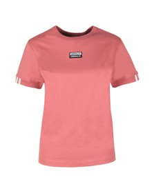 adidas Originals Womens Pink Chest Logo T Shirt