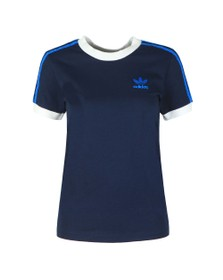 adidas Originals Womens Blue 3 Stripes Tee