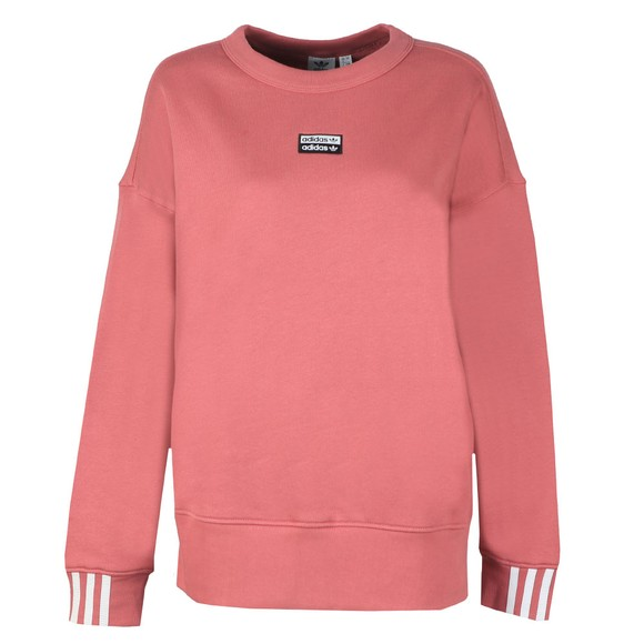 adidas Originals Womens Pink Chest Logo Sweatshirt main image