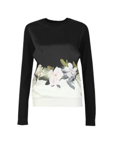 Ted Baker Womens Black Bellae Opal Knitted Jumper