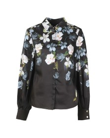 Ted Baker Womens Black Priyya Opal Printed Button Up Blouse