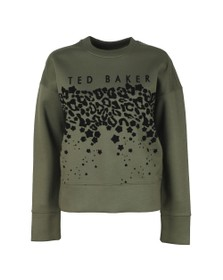 Ted Baker Womens Green Charliy Rib Detail Ted Baker Sweat