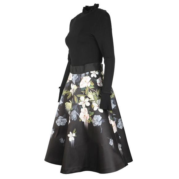 Ted Baker Womens Black Nerida Opal Printed Full Skater Dress main image