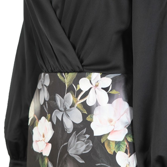 Ted Baker Womens Black Alithea Opal Off Shoulder Midi Dress main image
