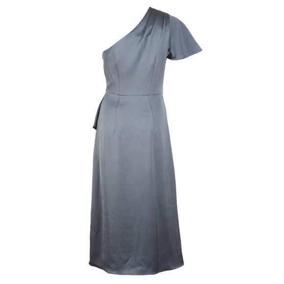 Ted Baker Womens Grey Ridah Waterfall Skirt One Shoulder Dress main image