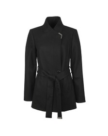 Ted Baker Womens Black Drytaa Short Belted Wrap Coat