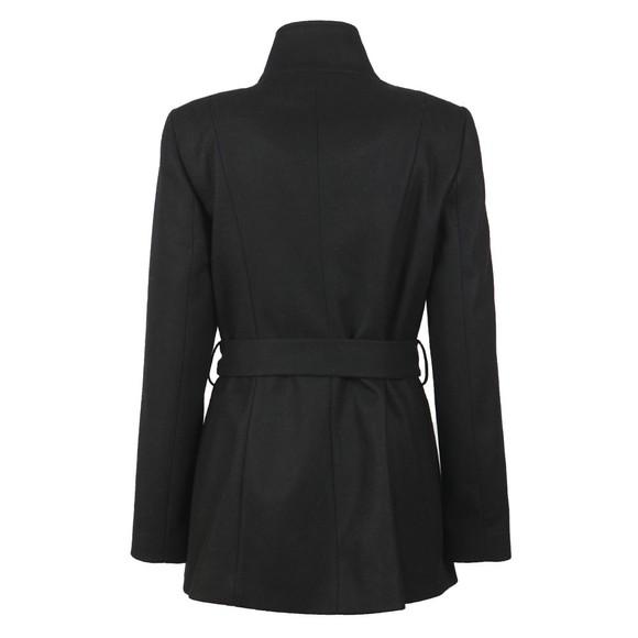 Ted Baker Womens Black Drytaa Short Belted Wrap Coat main image