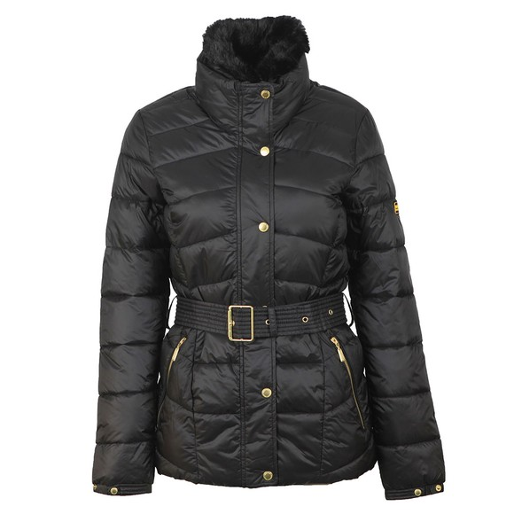 Barbour International Womens Black Circuit Quilt Jacket main image