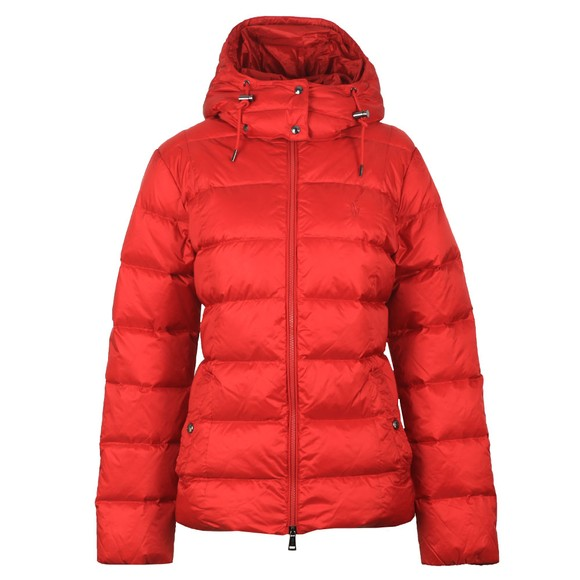 Polo Ralph Lauren Womens Red Momentum Down Jacket