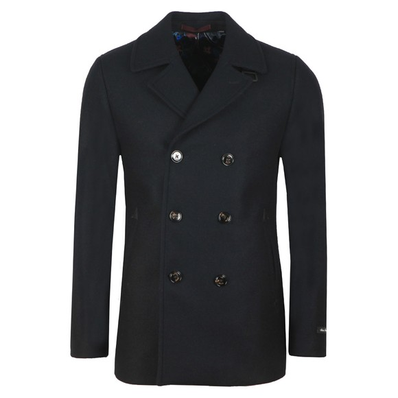 Ted Baker Mens Blue Westun Wool Peacoat main image