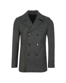 Ted Baker Mens Grey Westun Wool Peacoat