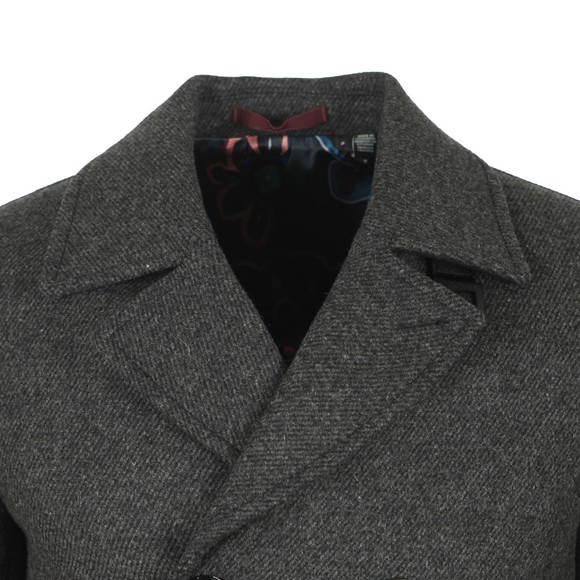 Ted Baker Mens Grey Westun Wool Peacoat main image