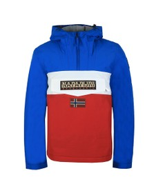 Napapijri Mens Red Rainforest Block Jacket