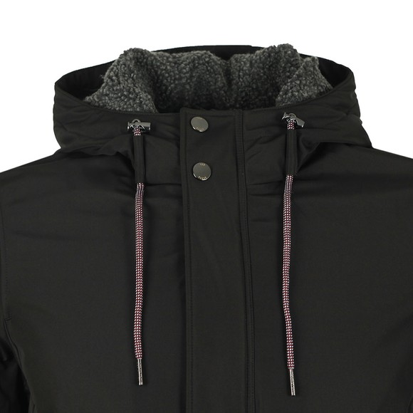 Ted Baker Mens Black Kinvara Short Hooded Jacket