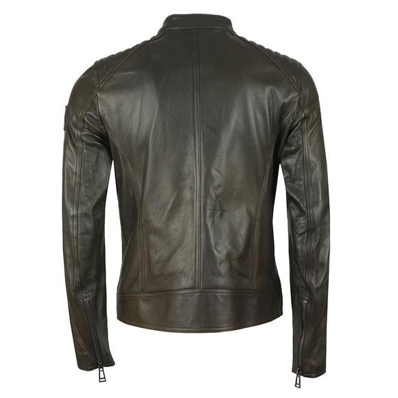 Belstaff Mens Green V  Racer Leather Blouson main image