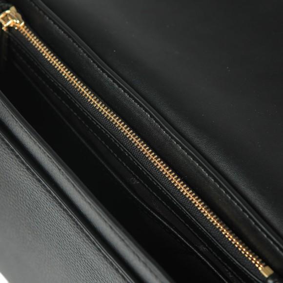 Michael Kors Womens Black Jet Set Full Flap Crossbody Bag main image