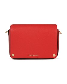 Michael Kors Womens Red Jet Set Full Flap Crossbody Bag