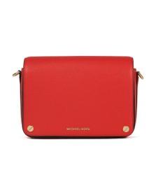 Michael Kors Womens Red Jet Set Full Flap Crossbody Bag