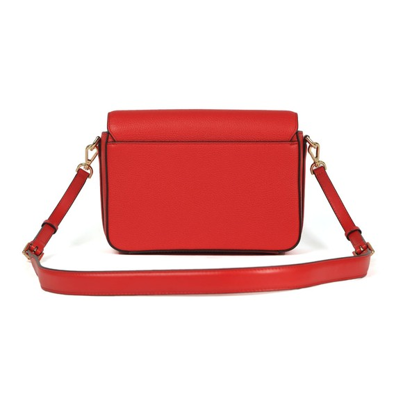Michael Kors Womens Red Jet Set Full Flap Crossbody Bag main image