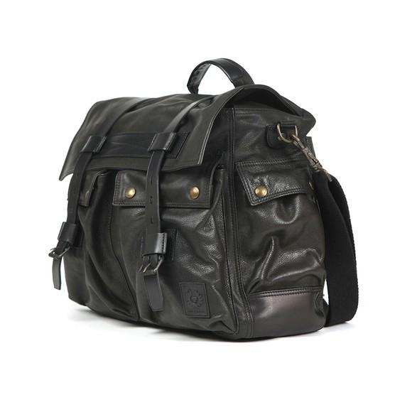 Belstaff Mens Black Leather Colonial Messenger Bag main image