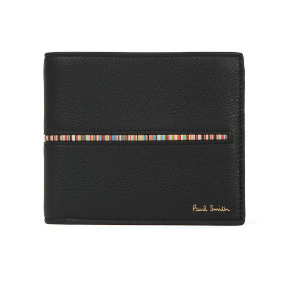Paul Smith Mens Black Signature Stripe Insert Wallet