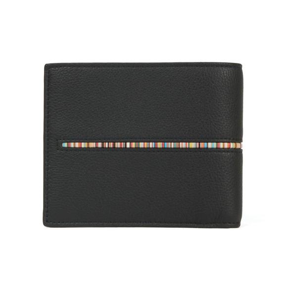 Paul Smith Mens Black Signature Stripe Insert Wallet