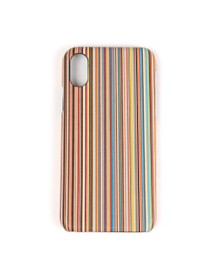 PS Paul Smith Mens Blue iPhone X Stripe Case
