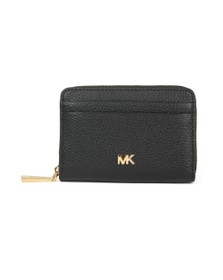 Michael Kors Womens Black Mott Coin Card Purse