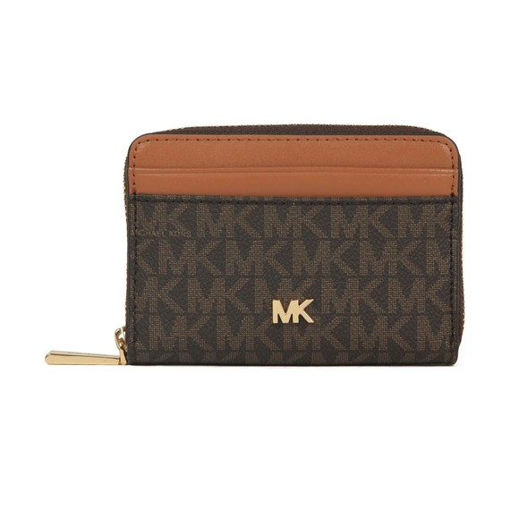 Michael Kors Womens Brown Mott Coin Card Purse
