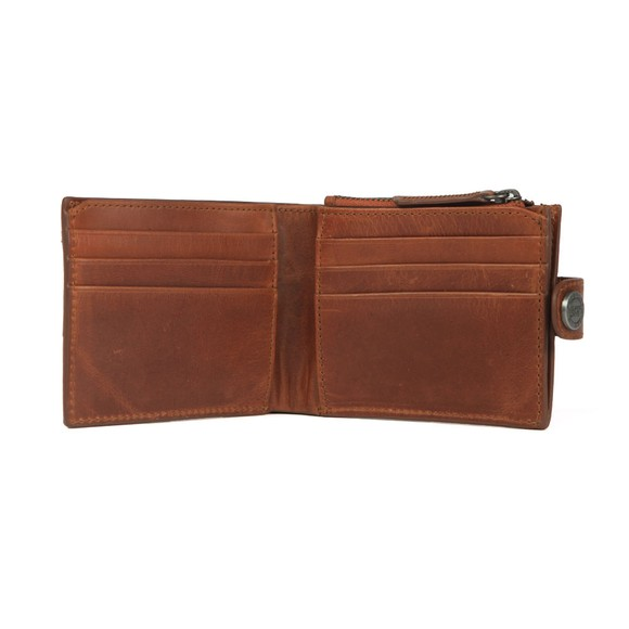 Superdry Mens Warm Tan Profile Leather Wallet in a Tin main image