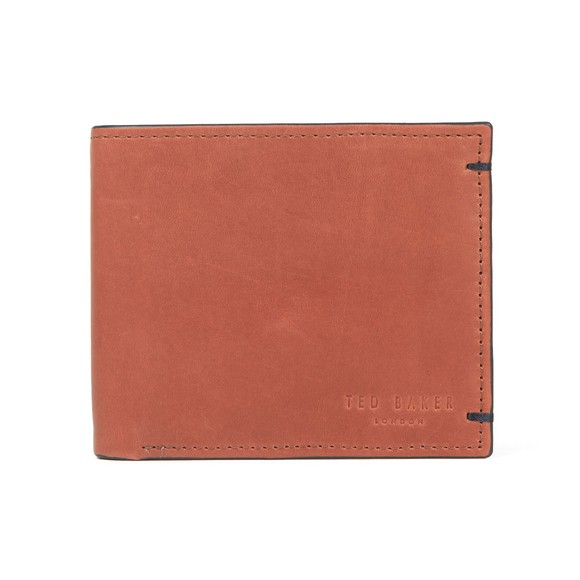 Ted Baker Mens Red Waxed Suede Wallet main image