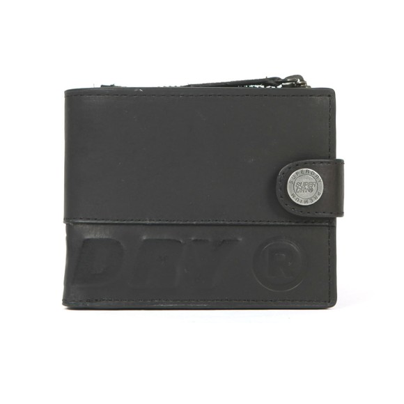 Superdry Mens Black Profile Leather Wallet in a Tin main image