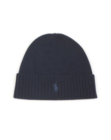 Polo Ralph Lauren Mens Blue Fold PP Knitted Hat