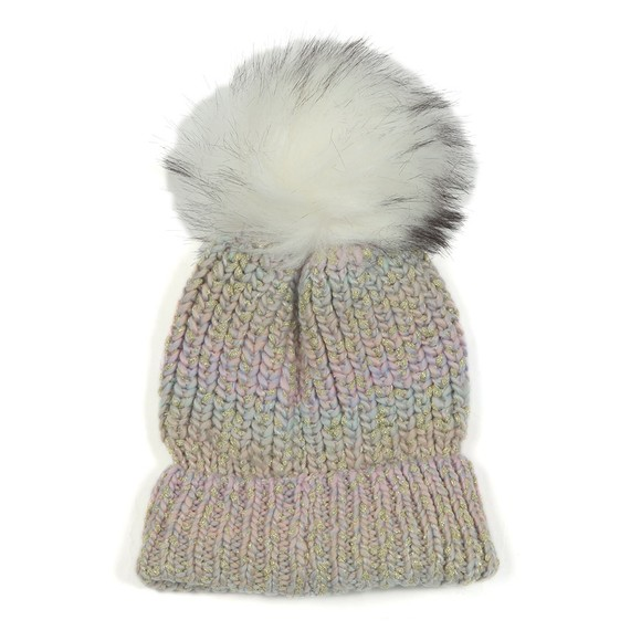 Superdry Womens Green Sparkle Ombre Beanie main image