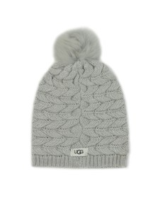 Ugg Womens Grey Cable Pom Hat