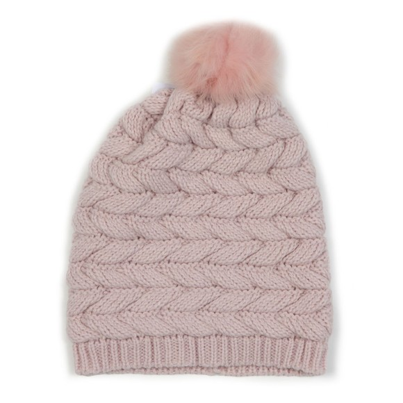 Ugg Womens Pink Cable Pom Hat main image