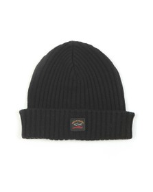Paul & Shark Mens Black Watershed Knitted Hat