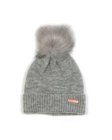 Barbour International Womens Grey Sparkle Knit Beanie