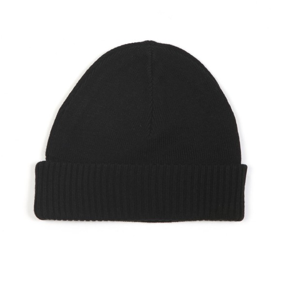 Fred Perry Mens Black Roll Up Beanie main image