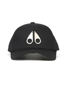 Moose Knuckles Mens Black Metallic Logo Icon Cap