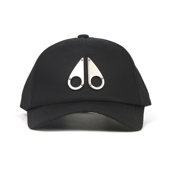 Moose Knuckles Mens Black Metallic Logo Icon Cap
