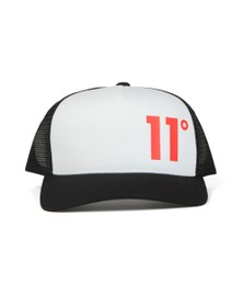 Eleven Degrees Mens Black Panel Trucker Cap