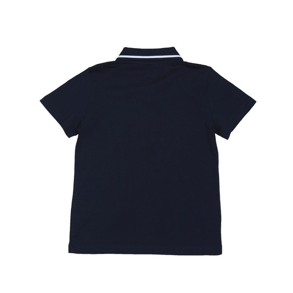 EA7 Emporio Armani Boys Blue Boys Tipped Polo Shirt main image