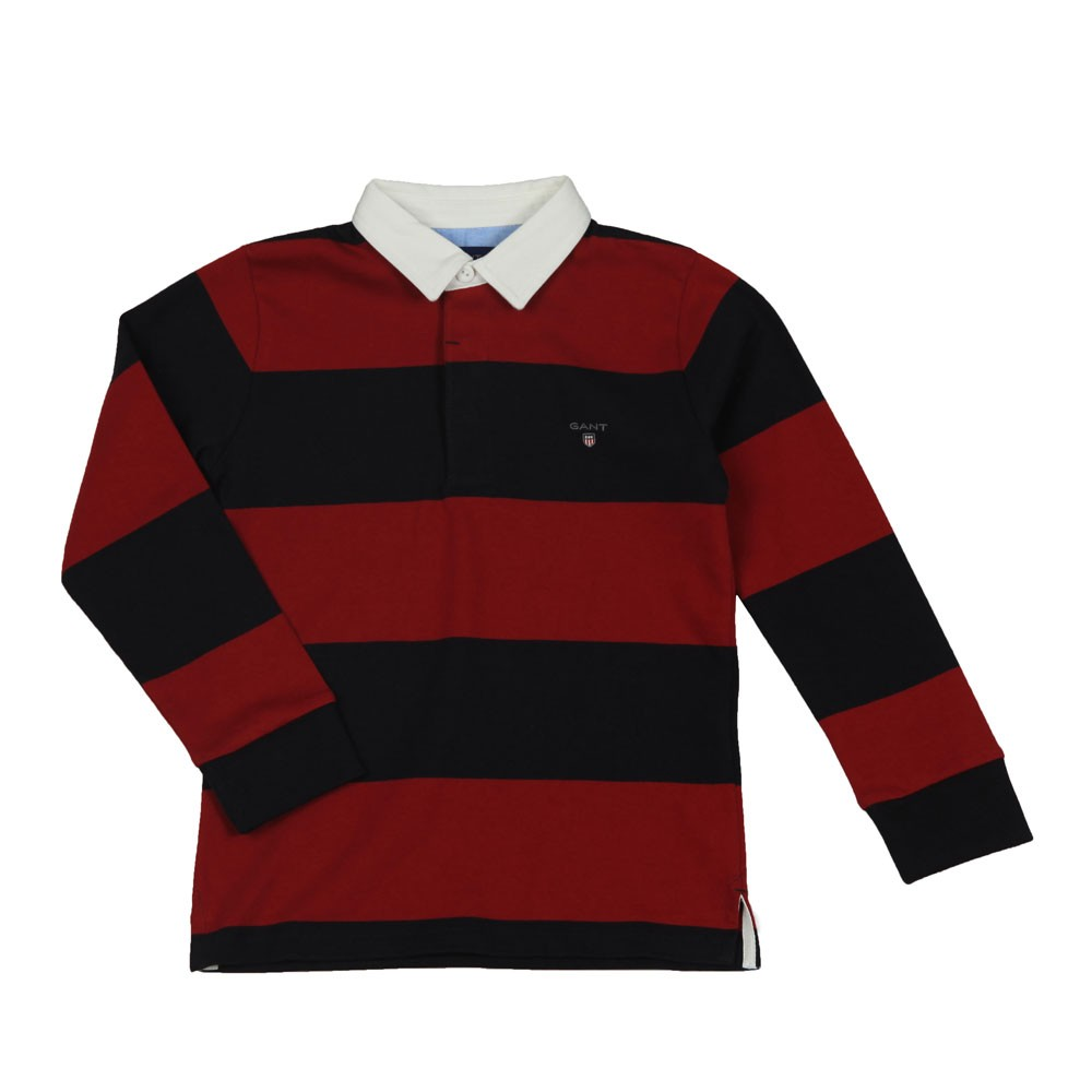 Boys Barstripe Rugby Polo Shirt main image