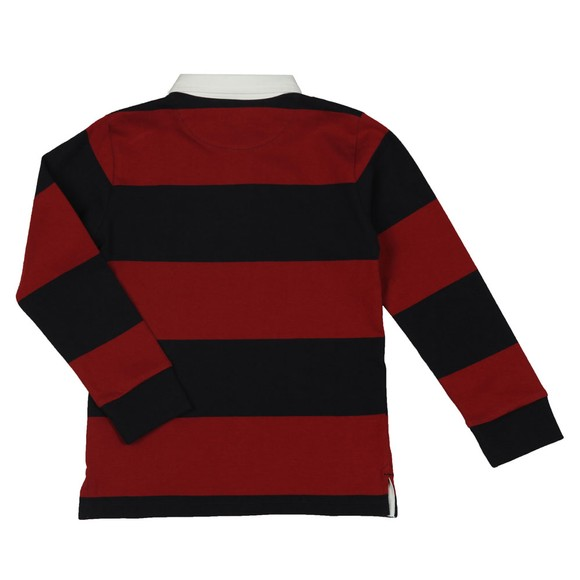 Gant Boys Brown Boys Barstripe Rugby Polo Shirt main image
