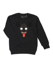 Moose Knuckles Boys Black Mascot Sweatshirt